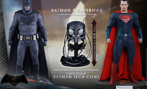 Sideshow Hot Toys BvS Batman vs Superman Set w/ Tech Cowl