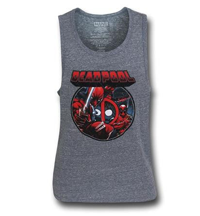 Deadpool Image Circle Tank T Shirt