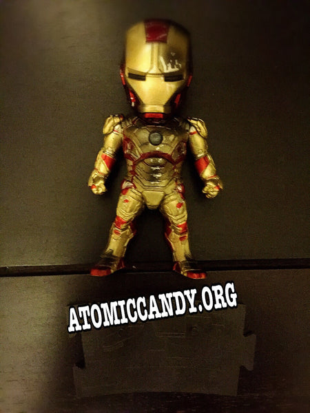 MARVEL IRON MAN XLII WITH BATTLE DAMAGE LED