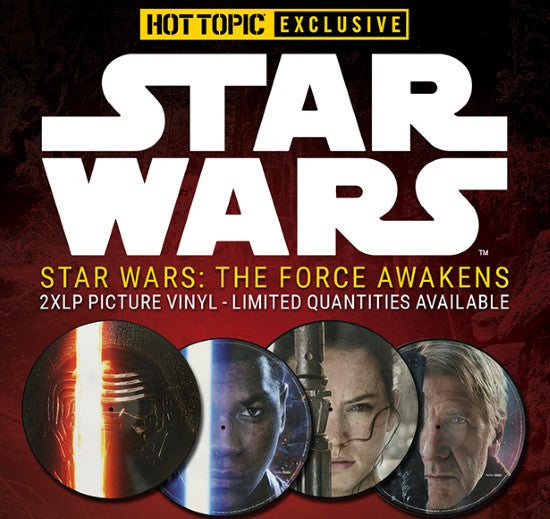 Hot Topic Exclusive Star Wars The Force Awakens Double Vinyl LP