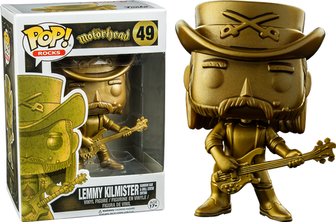 FUNKO Gold Lemmy Kilmister Pop Vinyl TRU Exclusive