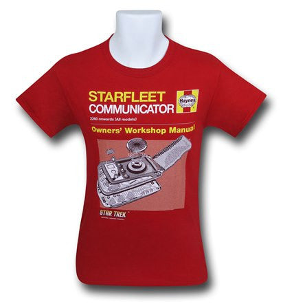 T Shirt  Star Trek Communiter Manual All Sizes available