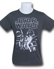 T Shirt Star Wars Heather Charcoal All Sizes available