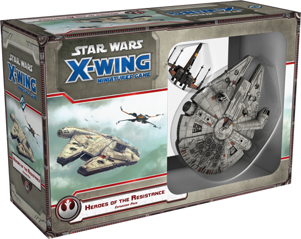 FFG Star Wars X Wing Miniatures Heroes of the Resistance Expansion Pack