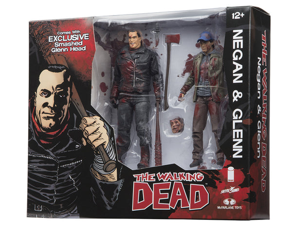 SDCC 2016 Exclusive McFarlane Toys The Walking Dead Negan & Glenn 2 Packs