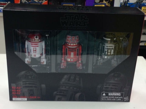 Star Wars black series summer con Astro mech pack 3 pack Hasbro