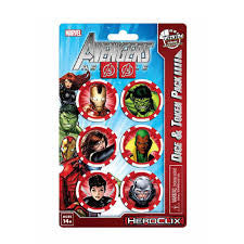 Heroclix Avengers Dice and Token set