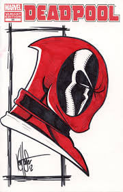 Deadpool Signed by Ken Haeser