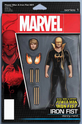 POWER MAN AND IRON FIST VOL 3 #1 JOHN TYLER CHRISTOPHER IRON FIST ACTION FIGURE VARIANT