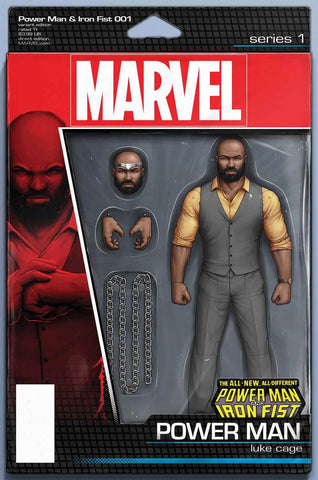 POWER MAN AND IRON FIST VOL 3 #1 JOHN TYLER CHRISTOPHER POWER MAN ACTION FIGURE VARIANT