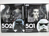 "Cute Nendoroid Star Wars The Force Awakens Stormtrooper #501 Darth Vader #502 PVC Figure Collectible Model Toy 4"" 10cm KT1853"