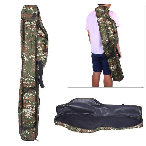 120CM Gun Package Bag Camouflage Rifle Hunting Military Double Deck Carrying