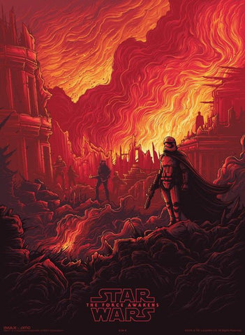 Set of 4 Star Wars The Force Awakens Posters 13 X 9.5 Inches
