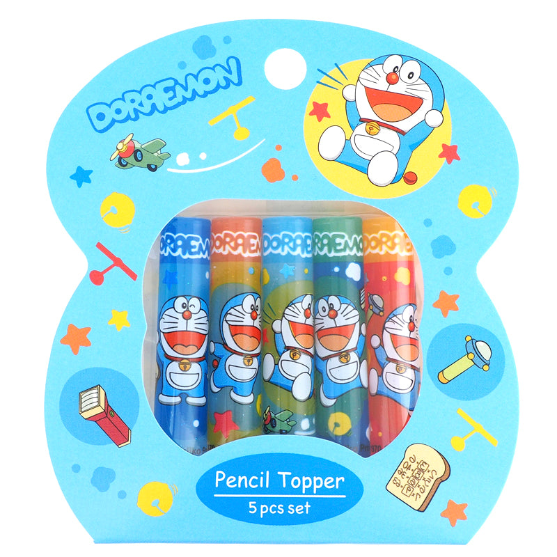 Doraemon Plastic Pencil Topper (5Pcs/Set) 塑膠鉛筆蓋 (5個裝)
