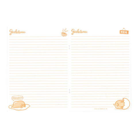 Gudetama Notebook 單行簿