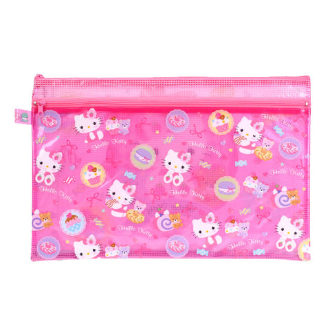 Hello Kitty PVC Mesh Bag (Large Size) 文件袋 (大)