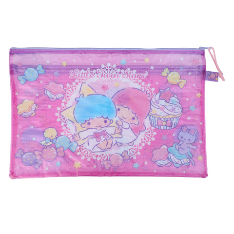 Little Twin Stars PVC Mesh Bag (Large Size) 文件袋 (大)