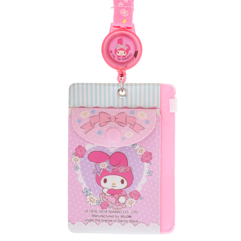 My Melody PVC Card Holder w/ Zipper Bag & Retractable Strap 証件套連頸繩
