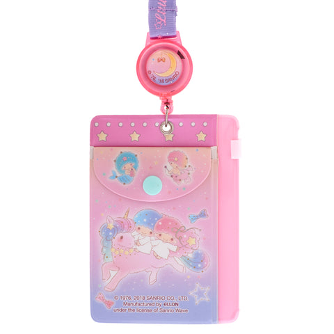 Little Twin Stars PVC Card Holder w/ Zipper Bag & Retractable Strap 証件套連頸繩