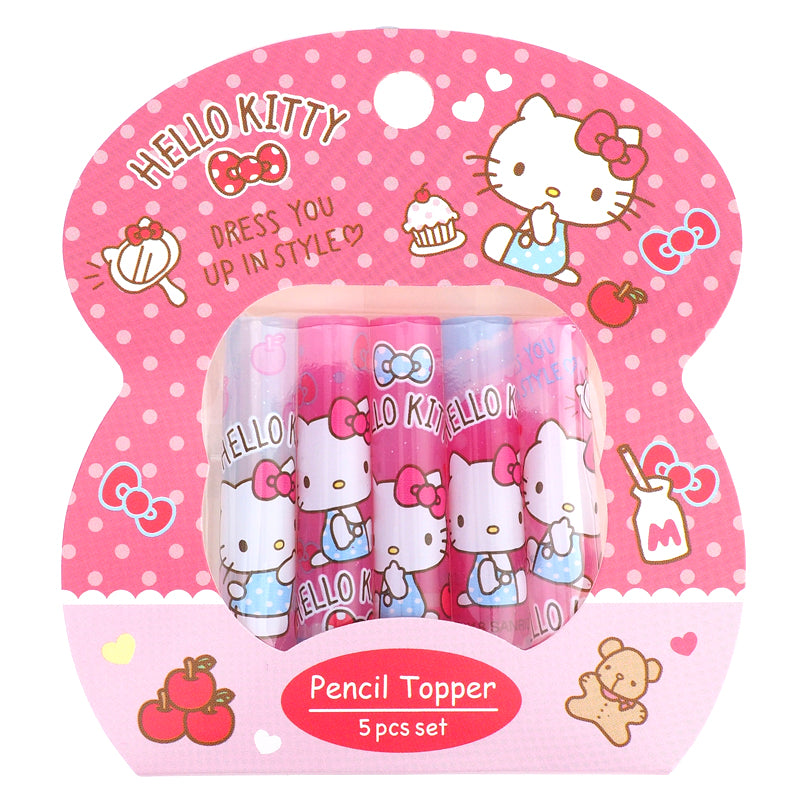 Hello Kitty Plastic Pencil Topper (5Pcs/Set) 塑膠鉛筆蓋 (5個裝)