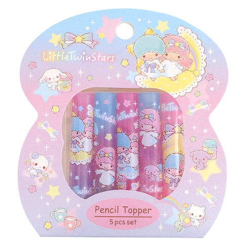 Little Twin Stars Plastic Pencil Topper (5Pcs/Set) 塑膠鉛筆蓋 (5個裝)