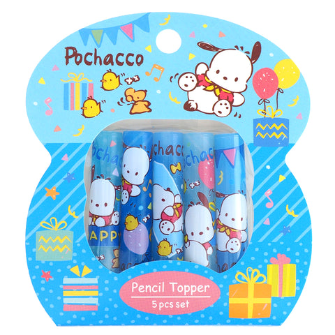 Pochacco Plastic Pencil Topper (5Pcs/Set) 塑膠鉛筆蓋 (5個裝)