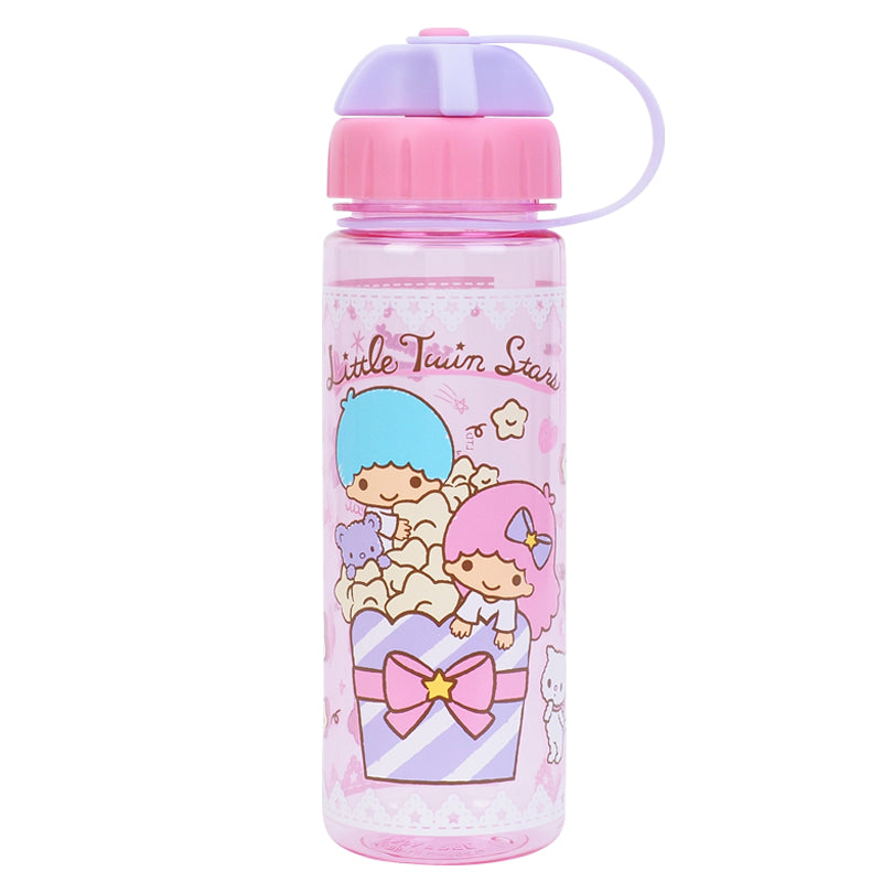 Little Twin Stars 450ml Water Bottle w/ 2 Openings Lid 膠水樽 (雙開口設計)