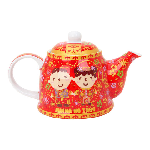 Minna No Tabo Wedding Ceramic Teapot Set 中式結婚茶具套裝