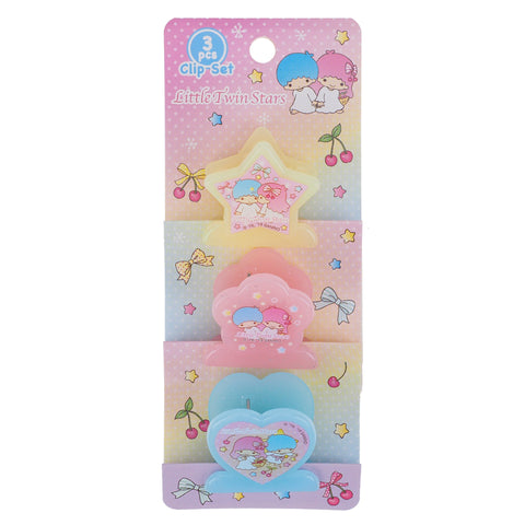 Little Twin Stars Plastic Clips Set (3 Pcs/ Set) 文件夾子套裝 (3個)