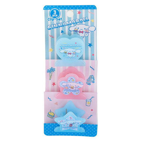Cinnamoroll Plastic Clips Set (3 Pcs/ Set) 文件夾子套裝 (3個)