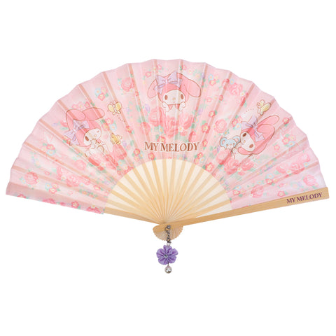 My Melody Foldable Fabric Fan w/ Cotton Bag 布扇連布套