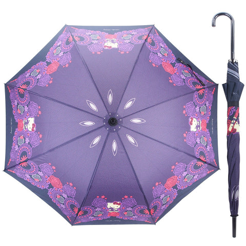 Hello Kitty 60CM x 8 Ribs Auto-Open Straight Umbrella 膠手柄自動直身雨傘