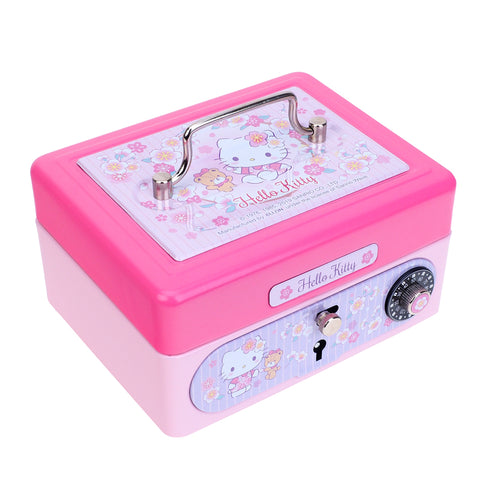 Hello Kitty Metal Cash Box with Dial Lock & Key (S) 夾萬連密碼鎖及鎖匙(細)