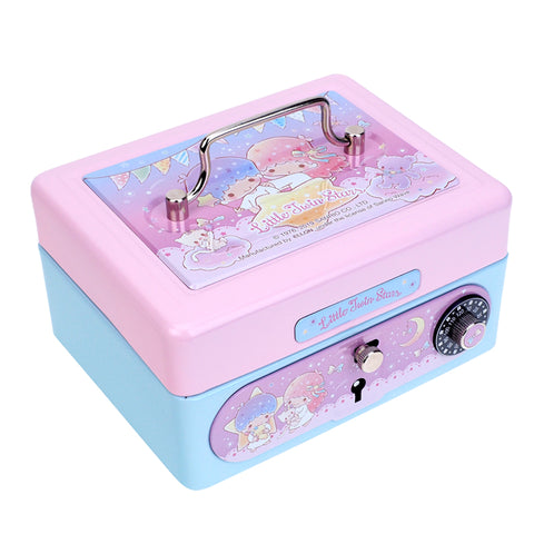 Little Twin Stars Metal Cash Box with Dial Lock & Key (S) 夾萬連密碼鎖及鎖匙(細)
