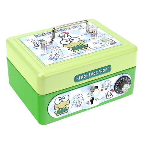 Kerokerokeroppi Metal Cash Box with Dial Lock & Key (S) 夾萬連密碼鎖及鎖匙(細)