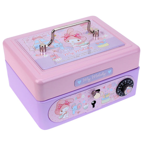 My Melody Metal Cash Box with Dial Lock & Key (S) 夾萬連密碼鎖及鎖匙(細)