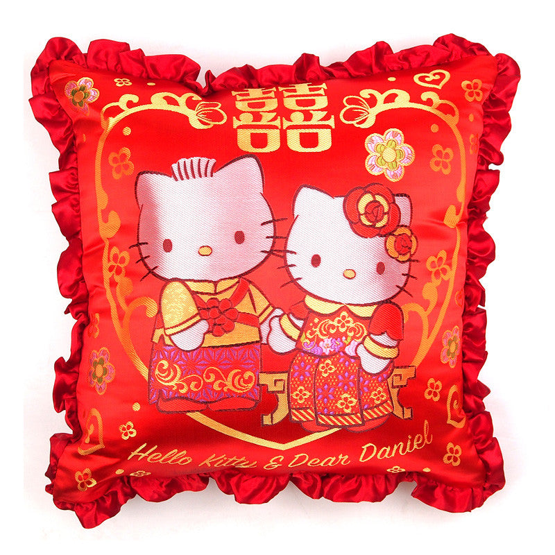 Hello Kitty & Dear Daniel Chinese Wedding Cushion 中式結婚咕o臣
