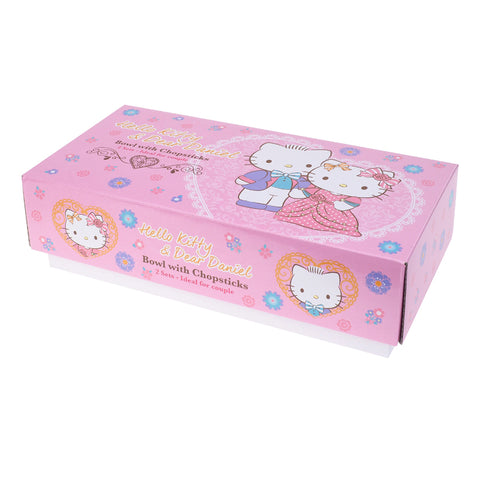 Hello Kitty & Dear Daniel Twin Ceramic Bowls & Chopsticks Gift Set 陶瓷對裝碗筷套裝