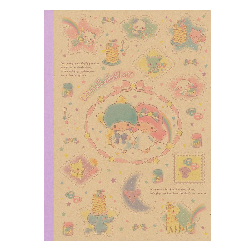 Little Twin Stars Kraftpaper Cover Notebook 牛皮面單行簿