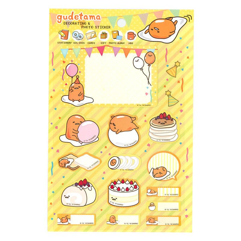 Gudetama Decorating Photo Sticker 防水貼紙