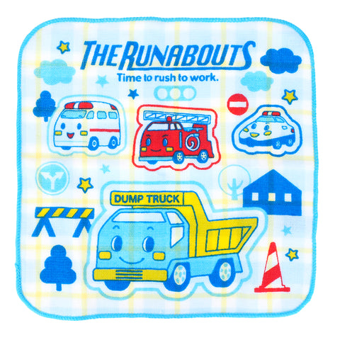 The Runabouts Towels With Plastic Case 純棉紗布方巾連膠盒