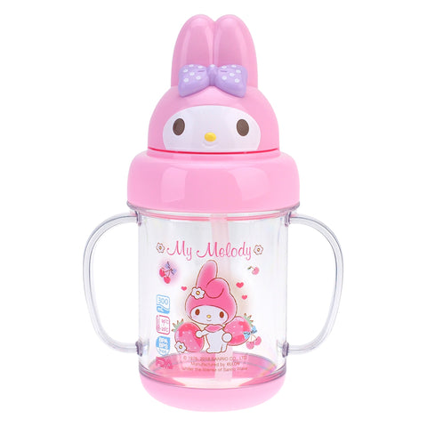 My Melody 300ML BPA Free Head Shape Water Bottle with Handle 公仔頭形膠水樽連手柄