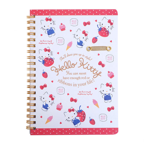 Hello Kitty Wire-O Notebook With Pen Holder 線圈簿連筆插