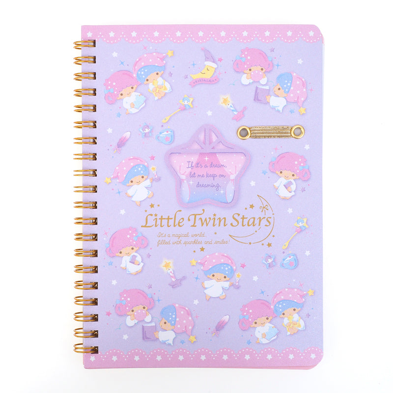 Little Twin Stars Wire-O Notebook With Pen Holder 線圈簿連筆插