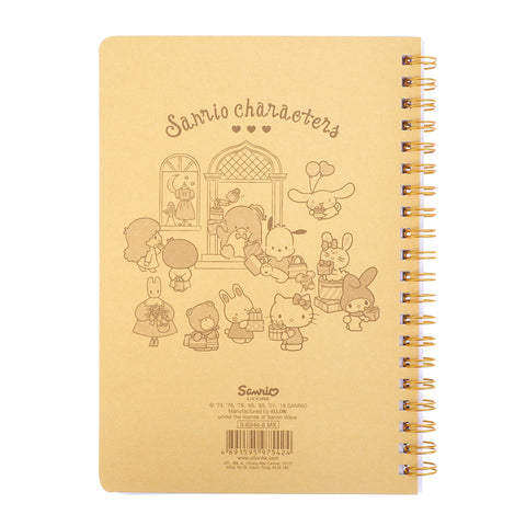 Mix Characters Wire-O Notebook With Pen Holder 線圈簿連筆插