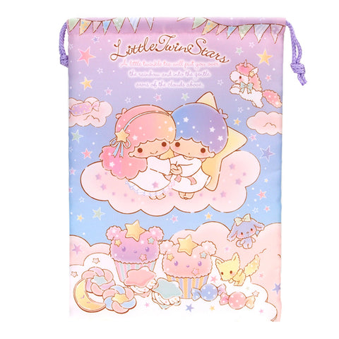 Little Twin Stars Electronic Gadgets Padded Drawstring Pouch 電子產品收納袋