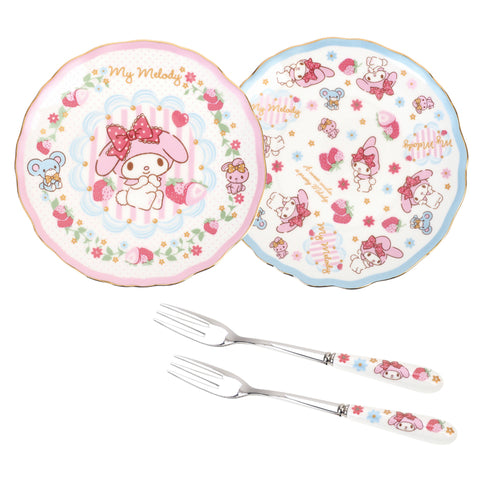 My Melody High Tea Set Cake Plate & Fork 甜品餐具套裝