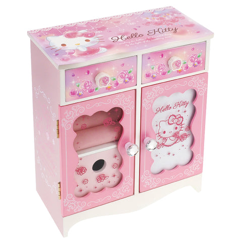 Hello Kitty Wooden Wardorbe Jewellery Box 衣櫃型首飾木盒