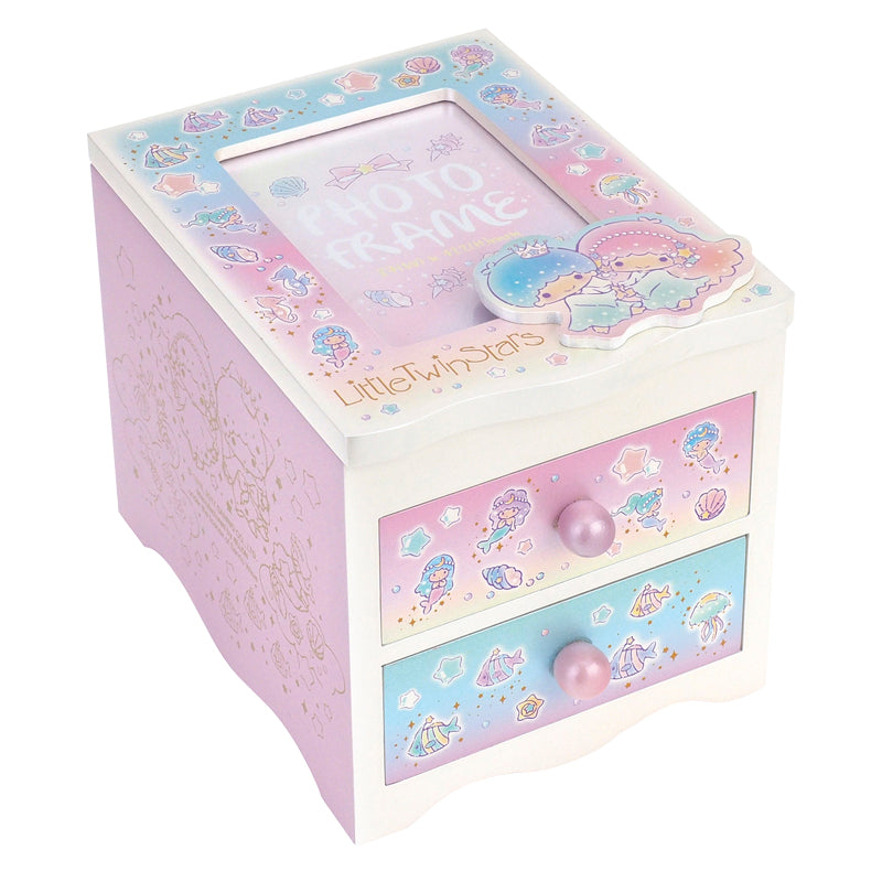 Little Twin Stars Wooden Jewellery Box With Photo Frame 首飾相框木盒
