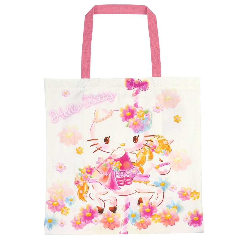 Hello Kitty Canvas Shopping Bag 帆布購物袋